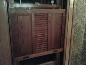 5 Interior Victorian Wood Shutters Antique Louver Window Panel Coverings 27 x 23