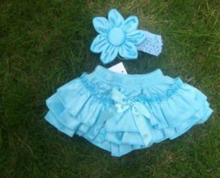 Newborn Baby Girls Headband Ruffle Skirt Children Bloomers Kids Dress Clothes