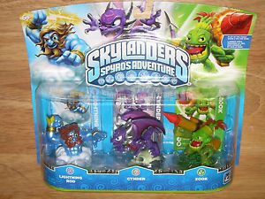 Skylanders Spyro's Adventure Video Game Figures Lightning Rod Cynder Zook 047875843585