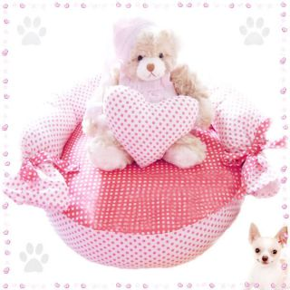 Pink Softly Pet Sofa 100 Cotton Pet Puppy Dog Cat Beds Pets Bed with Pillow New