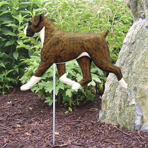 Boxer Natural Dog Figure Garden Stake Home Yard Garden Dog Products Gifts