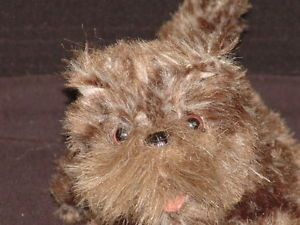 Plush Wizard of oz Toto Dorothy Dog Stuffed Animal Crazy Big Teeth Mad Dog Toy