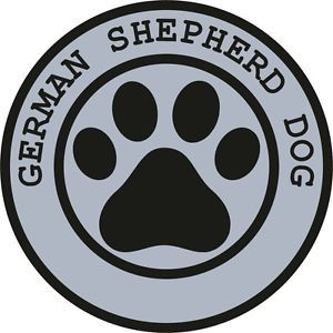 1x German Shepherd Dog Paw Print Seal Track Funny Sticker Dog Pet Decal Vinyl