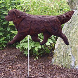 Newfoundland Dog Figure Garden Stake Home Yard Garden Products Dog Gifts
