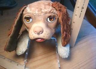 Vintage Gund Regal Beagle Dog Rubber Face Stuffed Animal Toy Plush Sleep Eyes