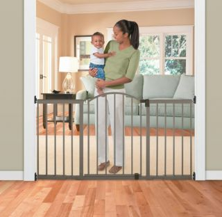 Safety Gate Toddler Baby Extra Wide Tall New 6 Foot Metal Door Pet Dog Stairs