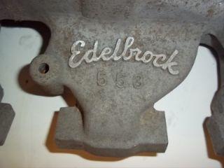 Edelbrock 553 Y Block Tri Power Intake 3x2 272 292 312 RARE