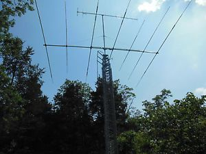 HY Gain 70' Crankup Tiltover Radio Tower HG 70HD Two Antenna's Rotor Controllers
