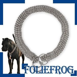 3 650P Dog Training Stainless Steel Chain Collar 22""