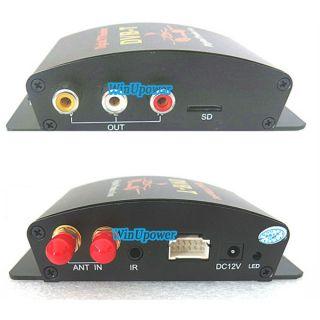 New Car Digital DVB T MPEG 4 TV HD Tuner Receiver Box Dual Antenna for European