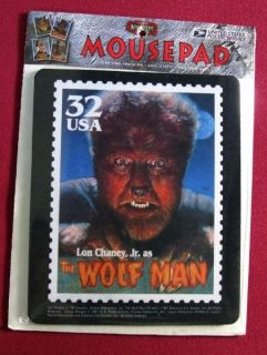 Lon Chaney Jr Wolf Man US Postage Stamp Mouse Pad