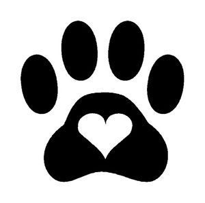 Paw Print Heart Dog Cat Pet Vinyl Decal Sticker Puppy Cute Animal Rescue Shelter