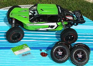 Axial Exo 1 10th Scale Electric 4WD Terra Buggy Kit Assembled Upgraded Used