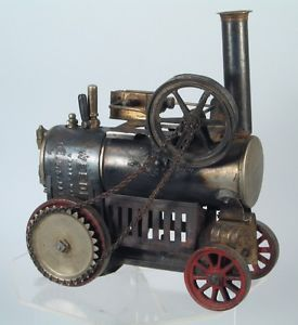 1900s Weeden Live Steam Traction Engine Tin Cast Iron Impressive