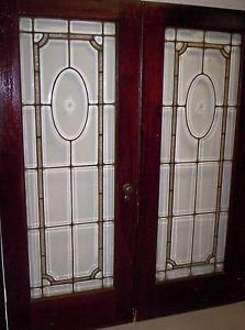 Lead glass cabinet door inserts on popscreen for All glass french doors