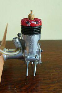 Vintage McCoy 19 R C Gas Airplane Engine Red Black Head Top Flite Prop Parts