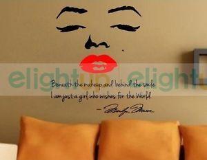 Marilyn Monroe Graphics Bedroom Art Vinyl Wall Decals Stickers Decor Mural Paper