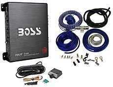 Boss Riot R1100M 1100W Mono Car Audio Power Amplifier Sub Bass Remote Amp Kit