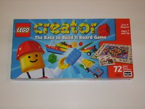 Lego Creator The Race to Build It Board Game Rose Art 100 Complete Car Plane