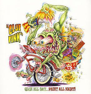 Johnny Ace Original Art Rat Fink Monster Big Daddy Roth Bike Wheel Model Kit