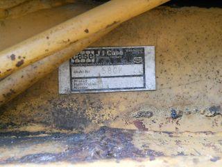 1988 Case Backhoe 580K 2 Wheel Drive Construction King Needs Work Must Go