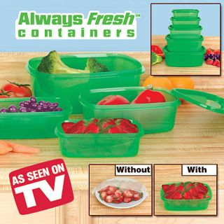 Always Fresh Plastic Food Storage Containers 10 Piece Value Set with Lids
