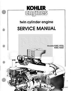 Genuine Kohler Small Engine Repair Manual K Series Models K482 K662 Ens 607 New