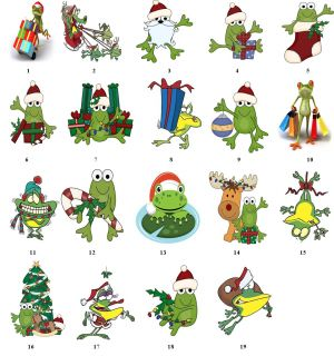 frog silly fun christmas return address labels gift favor tags buy 3