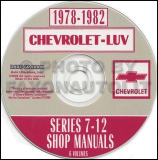 1981 Chevy Luv 2 2 Liter Isuzu Diesel Engine Repair Shop Manual CD Chevrolet