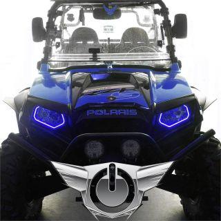 07 13 Polaris RZR ATV Blue Plasma Oracle Intense Lighting Halo Kit Off Road