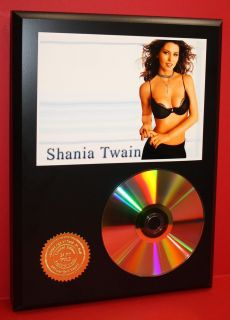 Shania Twain 24KT Gold CD Disc Collectible RARE Award Quality Plaque Gift