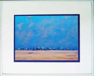 Gercken Beach Figures Coastal Seascape Original Oil Painting Impressionism Art