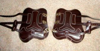 Frank Baines English Leather Buckle Tendon Boots Liners