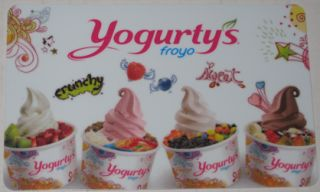 Yogurty's Froyo Canada Collectible Gift Card No Value New Frozen Yogurt Fruit