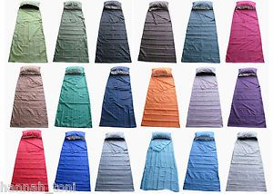 Faux Silk Single Sleeping Bag Liner Travel Sheet Camping Bed Sack Many Colours