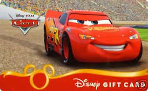 "Disney Gift Card ""Cars"" Collectible No Value 2011"