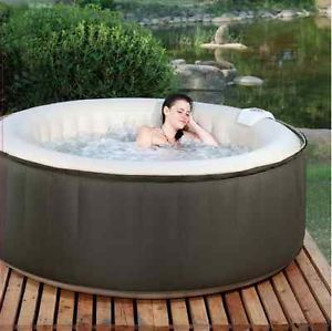 New 4 Person Portable Inflatable Spa Hot Tub Jacuzzi Backyard Patio Jets Bubbles