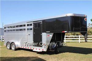 New 2013 Sundowner Rancher TR Aluminum Cattle Livestock Horse Gooseneck Trailer
