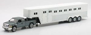Ford F 250 Fifth Wheel Truck Horse Trailer 1 43 Scale Diecast