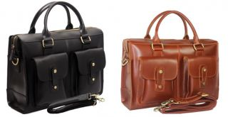 Mens Genuine Leather Briefcases Messenger Laptop Business Cases Bags Tote New