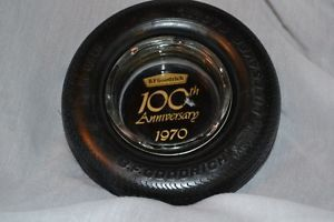 B F Goodrich Silvertown Tire Ashtray Lifesaver Radial 100th Anniversary  1970