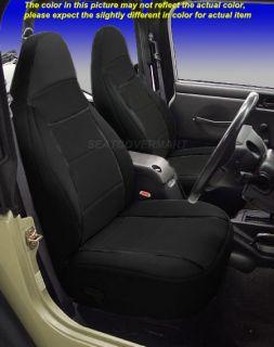 Jeep Wrangler Neoprene Front Seat Covers Black Color 1997 2002 TJ TJ127FRONT