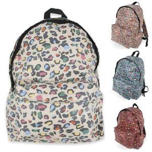 Unihood New Womens Cute Leopard Backpack Girls School Bags Campus Backpacks