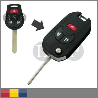 Flip Folding Key Shell for Nissan Cube Juke Rogue Romote Key Case Entry Refit