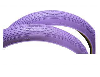 """New Beach Cruiser Bicycle Bike Tires 26"""" x 2 125 A Pair Purple"""