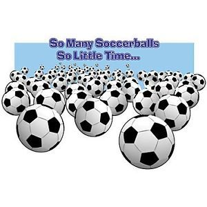 Soccer T Shirt So Many Soccerballs So Little Time Funny Tee Futbol Shirt