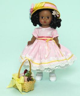 "Madame Alexander Dolls Easter Bonnet African American 61676 8"""