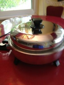 Health Craft Electric Skillet Waterless Greaseless Stainless Steel