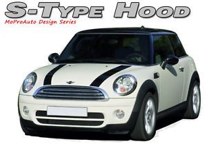 S Type Dual Hood Stripes Decals Graphics Pro Grade 3M Vinyl Fits Mini Cooper