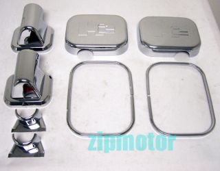 03 04 05 Hummer H2 SUV SUT Side Mirror Covers Chrome Trim Left Right Pair New
